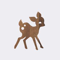 My Deer Lamp - Smoked Oak