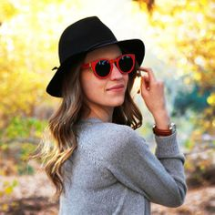 Red wooden sunglasses Chloe-red Summer arrivals