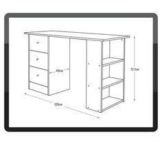 Buy Argos Home Malibu 3 Drawer Office Desk - White White Desk Office, Black Office, Black Desk, White Desks, Diy Drawers, Desk With Drawers, White Desk Argos, White Dressing Tables, Desk Dimensions
