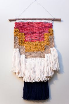 sierra / wall hanging weaving tapestry with tassels by habitstudio