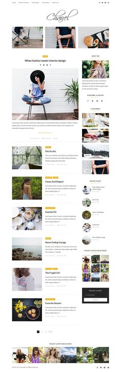 Chanel - Wordpress theme Feminine wordpress theme by Mailovedesign
