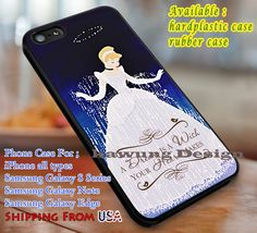 A Dream Cinderella Quotes Princess iPhone 6s 6 6s  6plus Cases Samsung Galaxy s5…