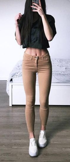 black and nude outfit idea