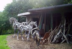 Reclusive Muse: Driftwood Horses