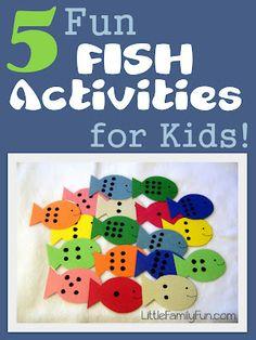 5 fun fish activities for kids!