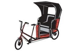 Save your tired feet, catch a ride on one of the pedicabs at Universal Orlando