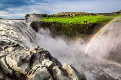 Dettifoss with rainbow, Iceland