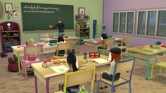 Around the Sims 4 | Custom Content Download | Objects | School