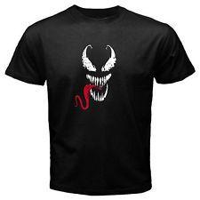 Venom 1 spiderman comic movie T-Shirt Black Basic Tee