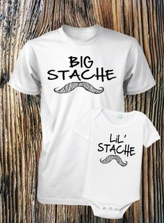 Father and Son Shirt Set Mustache Shirt by FunhouseTshirts on Etsy..... I think this would best suit Grandpa Stash :)
