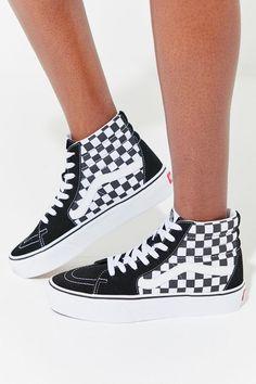 4a21eca35d Vans Sk8-Hi Platform 2.0 Checkerboard Sneaker
