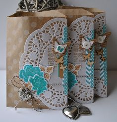 "These are so pretty and I love the way the colors ""pop"" off the kraft paper envelope."
