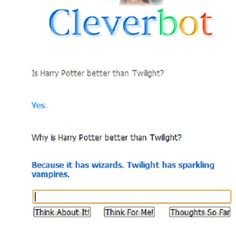 ahahahahah! I <3 Cleverbot #cleverbot #harry potter #twilight