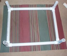 How to build a raised dog bed. Easy and cheap.. Throw a blanket on top for all that nest building. Easier to keep clean than those stuffed beds