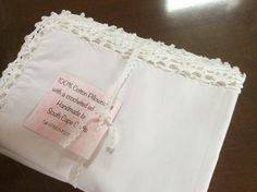 Cotto percale pillowcases by South Cape Crafts