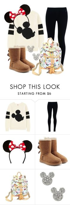 """Disney World Outfit"" by courtneygraben ❤ liked on Polyvore featuring Uniqlo, NIKE, UGG Australia, Dooney & Bourke and Disney Couture"