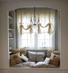 window seats, nooks and crannies