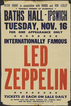 led zeppelin concert poster - Buscar con Google