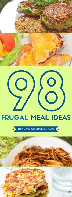 I know we've given you so many recipe ideas over the years, but hey, if you are anything like me, I'd like my stuff nicely arranged in one place! Which is why we thought of listing 98 frugal meal ideas in one post.