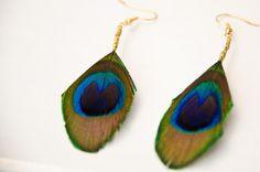 pecock earrings:)