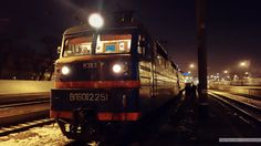 A cold December evening. Train engineer gets ready for departure.Odessa to Kharkov is a 15 hour ride.