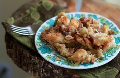 Vegetarian Caramelized Onion & Chanterelle Mushroom Stuffing - Kitchen Treaty Recipes