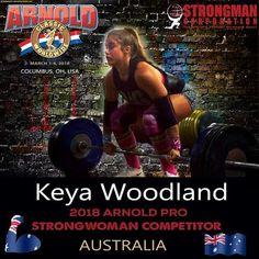 Keya Racheal Woodland will be at the Arnold! 🏋🏼💪🏼🏆️🇦🇺️⠀  #strongmancorporation #sports #fitness #australian