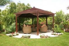 Relaxing In Garden Gazebo