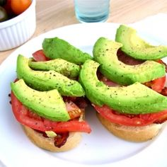 bacon, avocado, tomato