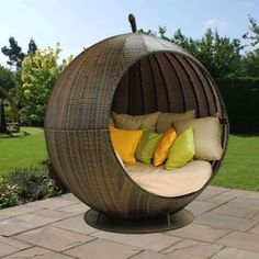 Rattan Garden Furniture, Outside Furniture, Backyard Furniture, Outdoor Furniture, Outdoor Daybed, Outdoor Lounge, Outdoor Decor, Daybeds For Sale, Outdoor Tables And Chairs