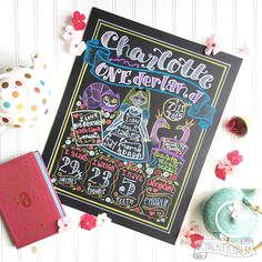 I'm always happy when I get requests to reimagine a favorite theme. Charlotte's ONEderland is sweet and fun and flamingo-friendly! ❤️💗💜