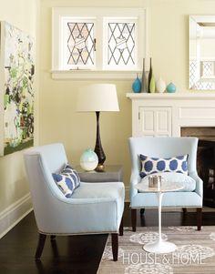 Photo Gallery: Sarah Richardson Designs | House & Home.  wall colour, Pearl Tint (2262) Pratt & Lambert.