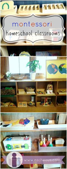 Montessori Home Classroom They are unorganized as far as learning materials for one subject next to one from another, but nice materials!