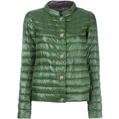 Herno reversible puffer jacket ($485) ❤ liked on Polyvore featuring outerwear, jackets, green, puffy jacket, reversible puffer jacket, puffer jacket, goose down jacket and herno