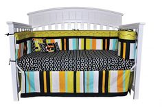 Creative, bright colors and designs that is sure to bring warmth to your new child's nursery while bringing a smile to your face and bring a relaxing calm to your child. http://www.dkleigh.com/little-sunshine-10-piece-beach-crib-bedding-set-by-dk-leigh/