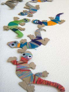 cardboard chameleons by NeusaLopez, via Flickr
