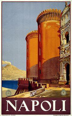 napoli travel poster, c. 1920.