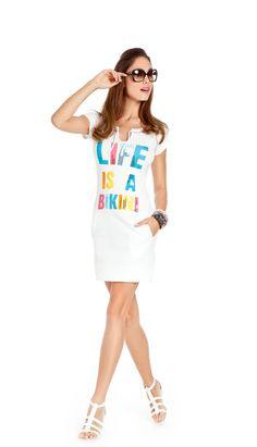 noidìnotte Collezione Spring/Summer 2012  € 16,90  ABITINO DONNA BIKINI MEZZA MANICA COTONE ED ELASTANE  noidìnotte   #pigiama #easywear #look