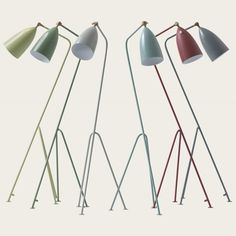 Gräshoppa floor lamp Introductory offer ends 1 September 2011 Normal Price Hand made and hand painted Product Code: MID 160 almond
