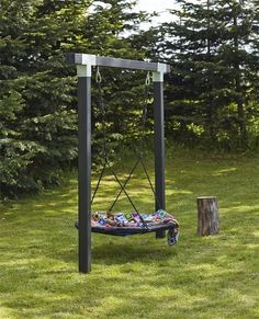 Cubic wooden swing as double swing with nest swing 9x9 - #9x9 #Cubic #Double #nest #Swing #Wooden