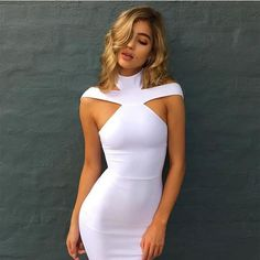 Ashya White Bandage Dress