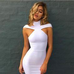 Ashya White Bandage Dress