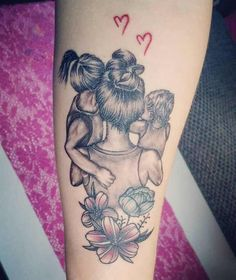 tattoos for daughters - tattoos for women . tattoos for women small . tattoos for guys . tattoos for moms with kids . tattoos for women meaningful . tattoos with meaning . tattoos for daughters . tattoos with kids names Mutterschaft Tattoos, Mama Tattoos, Name Tattoos For Moms, Twin Tattoos, Tattoos With Kids Names, Tattoo For Son, Tattoos For Daughters, Body Art Tattoos, Sleeve Tattoos
