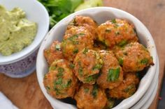 Chicken Sausage, Scallion & Cilantro Meatballs With Avocado Creme Dipping Sauce   Tasty Kitchen: A Happy Recipe Community!