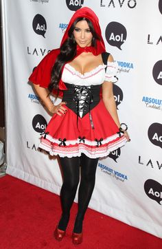 Kim Kardashian as Little Red Riding Hood - The Best Celebrity Halloween Costumes…