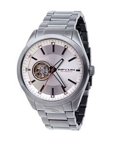 Rip Curl The Civilian Gunmetal Automatic Watch Always On Time, Synthetic Ruby, Rip Curl, Automatic Watch, Casio Watch, Latest Fashion, Jewels, Watches, Band