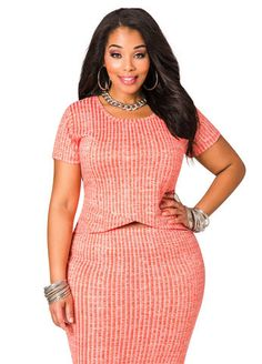 Short Sleeve Sweater Knit Hi Lo Envelop Top From The Plus Size Fashion Community At www.VintageAndCurvy.com
