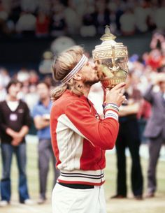 A victorious Bjorn Borg in Fila in 1979. - TownandCountryMag.com