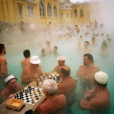 Limited availability for a SIGNED Martin Parr Magnum Collection Poster. Exclusively available from the Magnum Shop. Szechenyi thermal baths, Budapest, H.