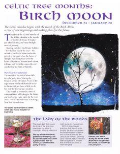 Celtic tree months Birch moon